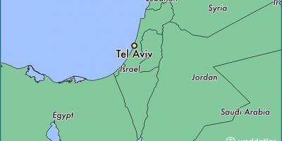 Tel Aviv Mapa Mapa De Tel Aviv Israel
